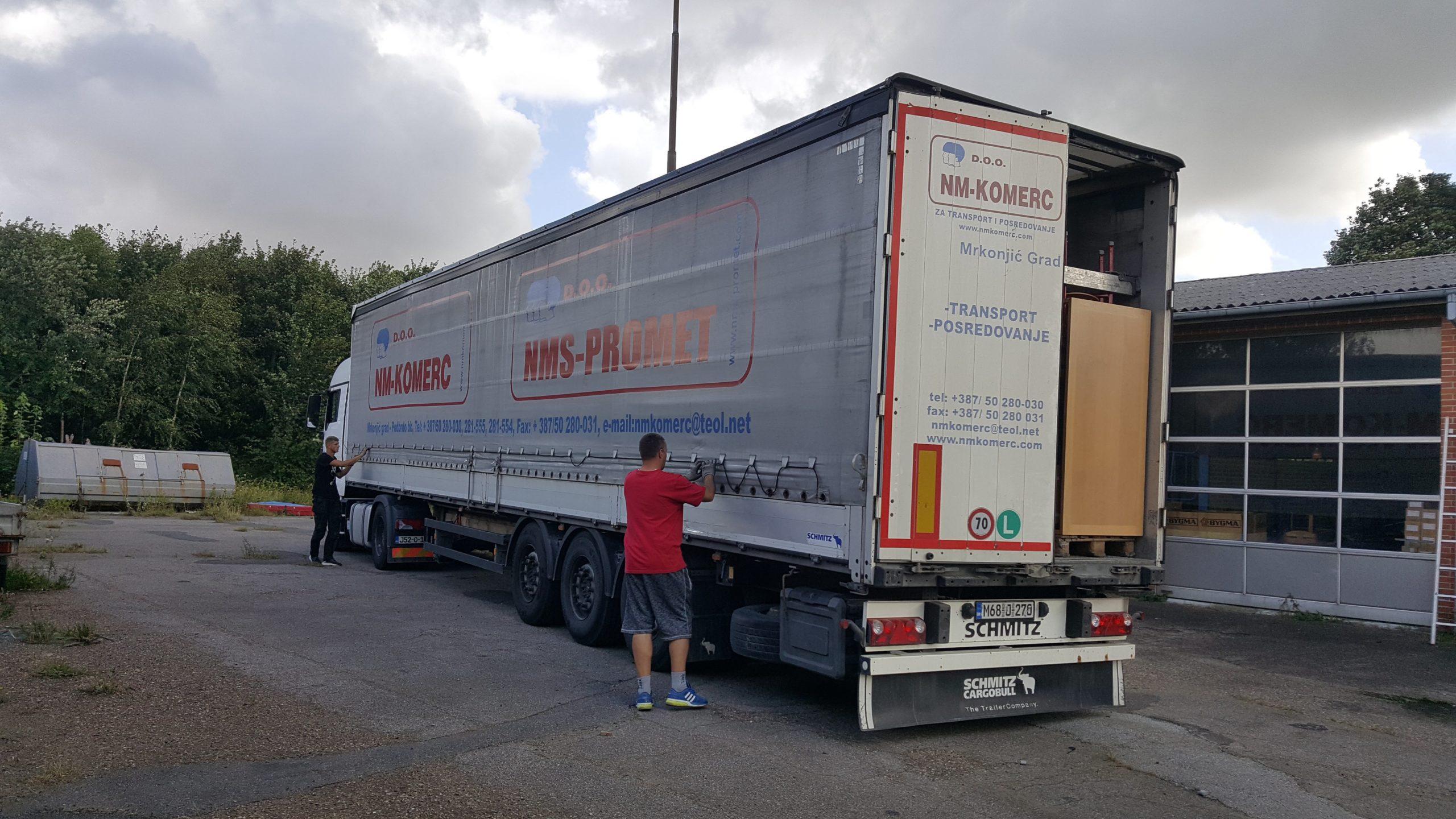 Transport til Jajce